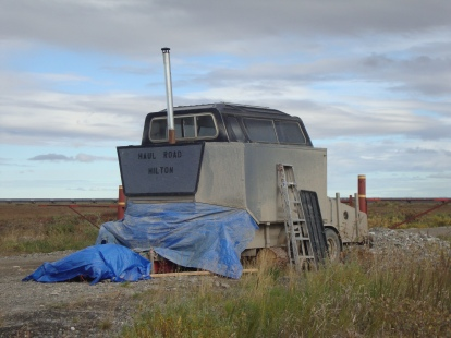 A hunter's camp on the Haul Rd